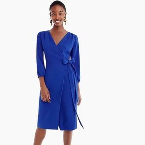 J.Crew Ocean Blue Wrap Around Dress Size 8P